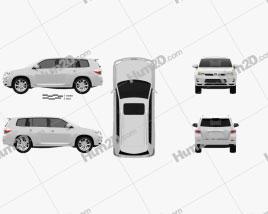 Toyota Highlander (Kluger) Hybrid 2011 car clipart