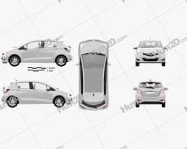 Toyota Yaris (Vitz) 5door 2012