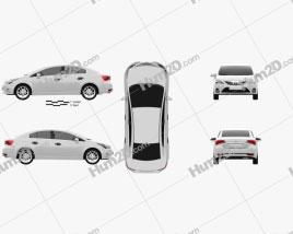Toyota Avensis Sedan 2012 car clipart