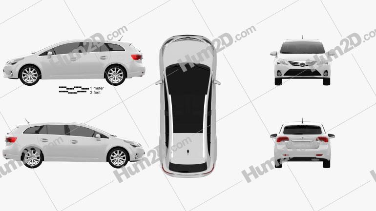Toyota Avensis Tourer 2012 car clipart