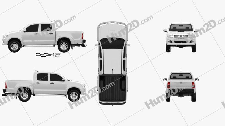 Toyota Hilux Double Cab 2012 car clipart