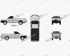 Toyota Hilux Regular Cab 2012 car clipart