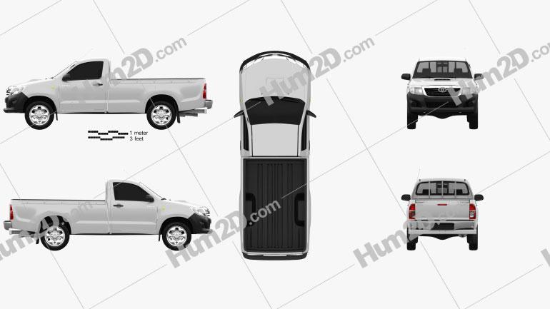 Toyota Hilux Regular Cab 2012 Clipart Image