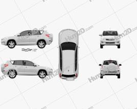 Toyota Rav4 European (Vanguard) 2012 car clipart