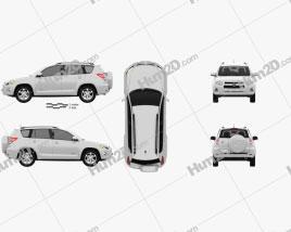 Toyota Rav4 US 2012 car clipart