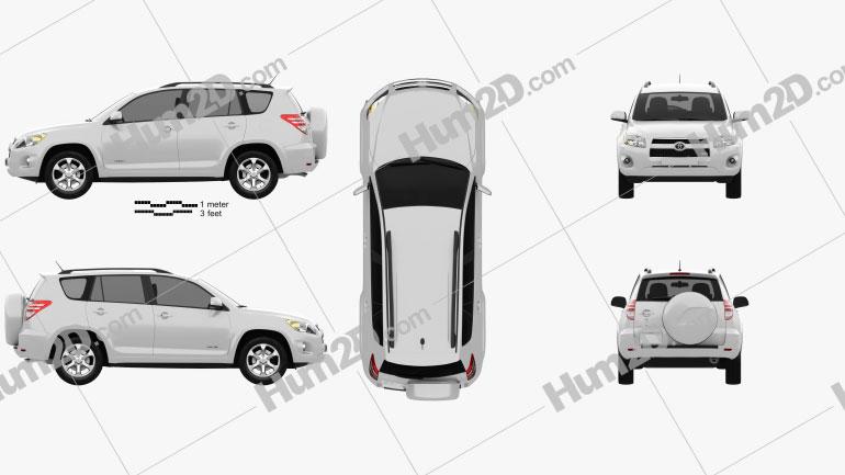 Toyota Rav4 US 2012 Clipart Image