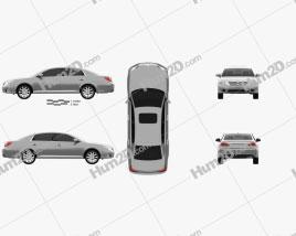 Toyota Avalon 2012 car clipart