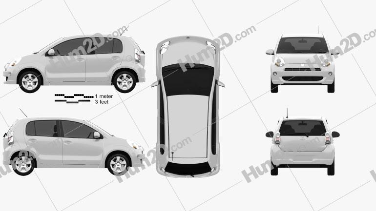 Toyota Passo 2012 Clipart Image