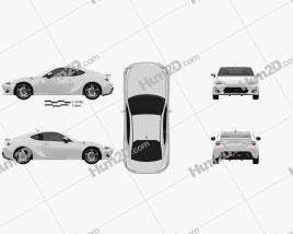 Toyota GT 86 2013 car clipart