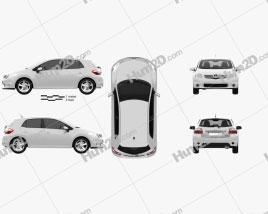 Toyota Auris 2012 car clipart