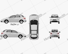Toyota Matrix (Voltz) 2011 car clipart