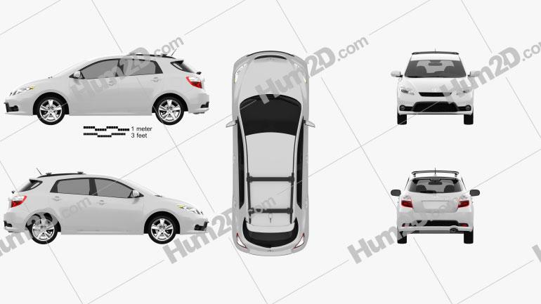 Toyota Matrix (Voltz) 2011 Clipart Image