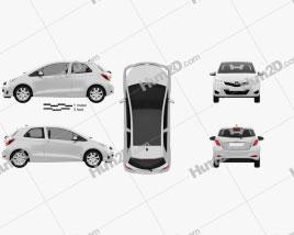 Toyota Yaris 3-door 2012 Clipart