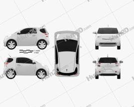 Toyota IQ 2009 car clipart