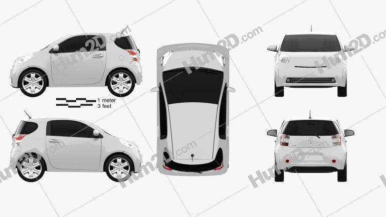 Toyota IQ 2009 Clipart Image