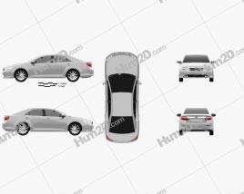 Toyota Camry EU (Aurion) 2012 car clipart
