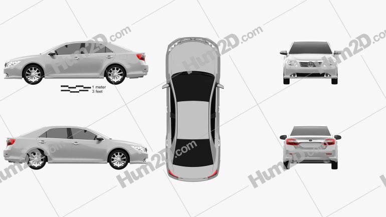 Toyota Camry EU (Aurion) 2012 Clipart Image