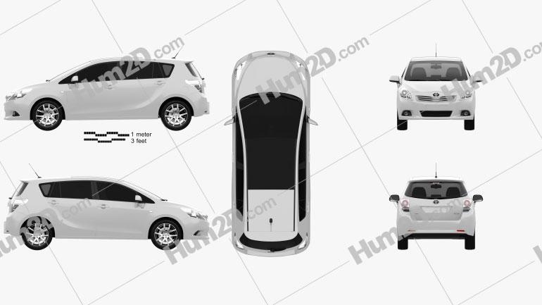 Toyota Verso (E'Z) 2012 Clipart Image