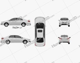 Toyota Corolla 2012 car clipart