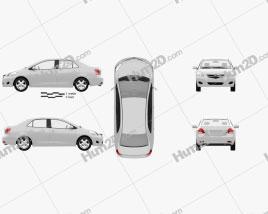Toyota Yaris sedan (Vios, Belta) 2011 car clipart