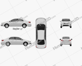 Toyota Corolla LE 2012 car clipart