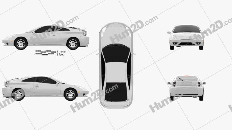 Toyota Celica GT-S 2006 car clipart