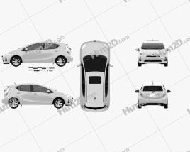 Toyota Prius C (Aqua) 2012 car clipart