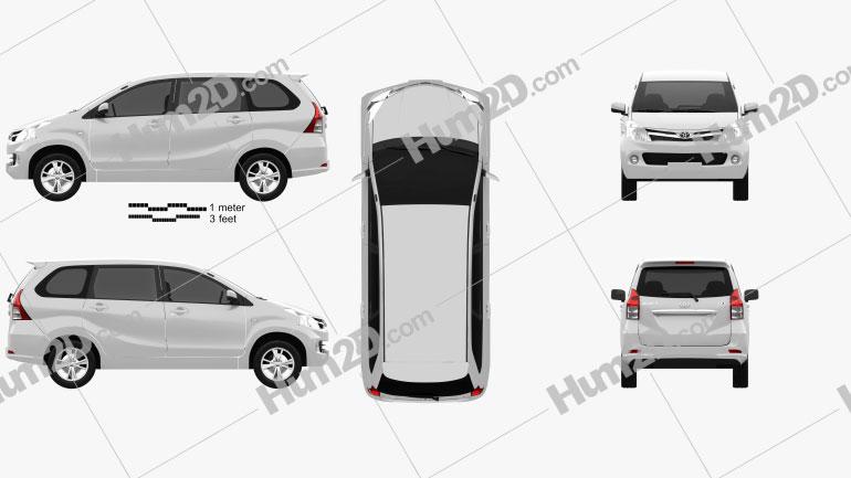 Toyota Avanza 2012 Clipart Image
