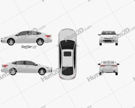 Toyota Avalon (XX40) 2013 car clipart