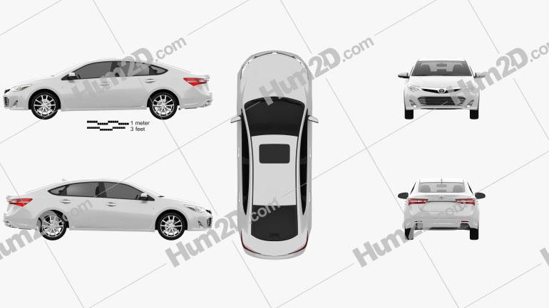 Toyota Avalon (XX40) 2013 Clipart Image
