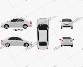 Toyota Etios 2012 car clipart