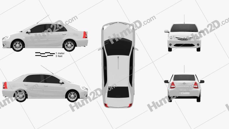 Toyota Etios 2012 Clipart Image