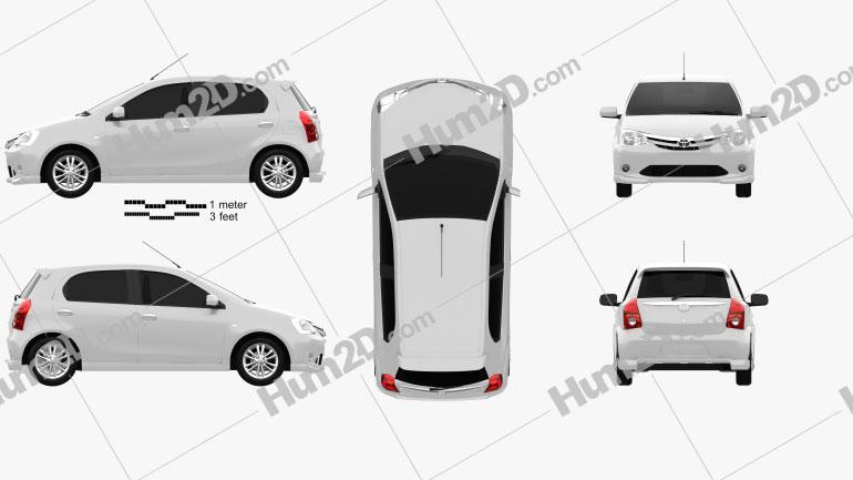 Toyota Etios Liva 2012 car clipart