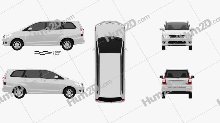 Toyota Innova 2011 clipart
