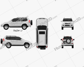 Toyota Land Cruiser Prado (120) 5-türig 2009 car clipart