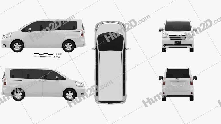 Toyota Noah (Voxy) 2010 Clipart Image