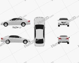 Toyota Crown Royal Saloon (S200) 2010 car clipart