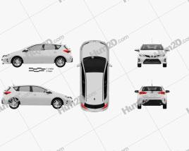 Toyota Auris hatchback 2013 car clipart