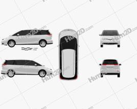 Toyota Previa 2012 clipart