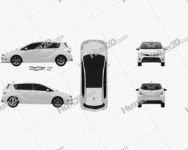 Toyota Verso (E'Z) 2013 car clipart