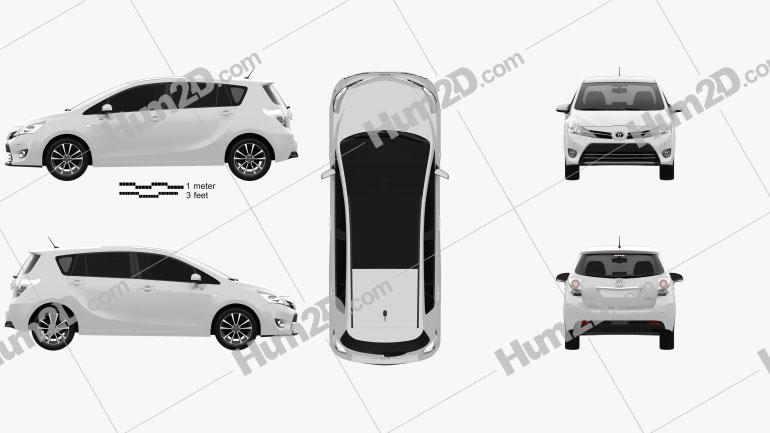 Toyota Verso (E'Z) 2013 Imagem Clipart