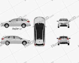 Toyota Auris Touring Hybrid 2013 car clipart