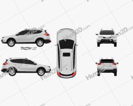 Toyota RAV4 2013 car clipart