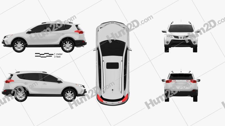 Toyota RAV4 2013 Imagem Clipart