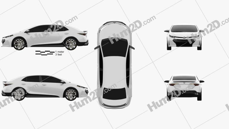 Toyota Corolla Furia 2013 car clipart