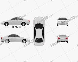 Toyota Camry (XV30) 2004 car clipart