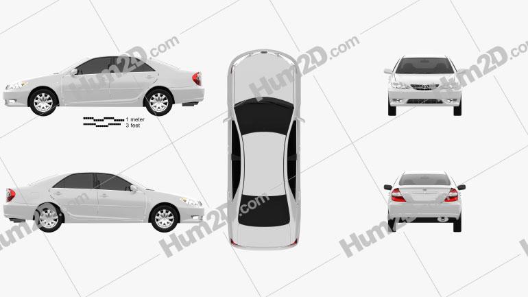 Toyota Camry (XV30) 2004 Imagem Clipart