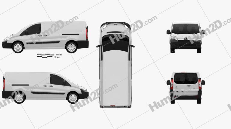 Toyota ProAce Van L2H1 2012 Clipart Bild