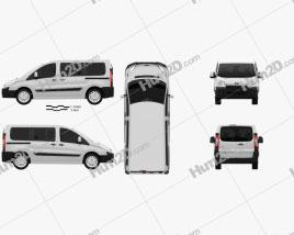 Toyota ProAce Combi L1H1 2012 clipart