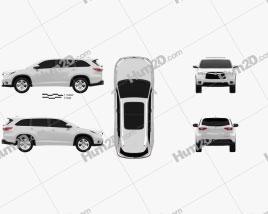 Toyota Highlander 2014 car clipart